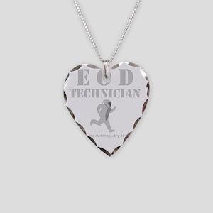 eod tech dark Necklace Heart Charm