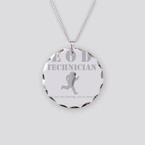 eod tech dark Necklace Circle Charm