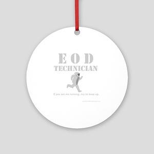 eod tech dark Round Ornament