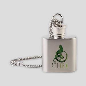 Atlien green Flask Necklace