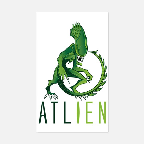 Atlien green Sticker (Rectangle)