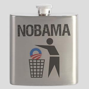 NoBama-(trash)-white-shirt Flask