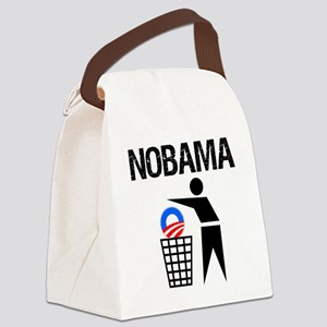 NoBama-(trash)-white-shirt Canvas Lunch Bag