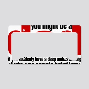 might be a dad License Plate Holder