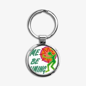 mebliming10x10mgd1 Round Keychain
