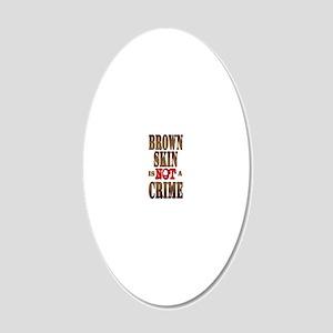 BrownSkin-Sigg 20x12 Oval Wall Decal