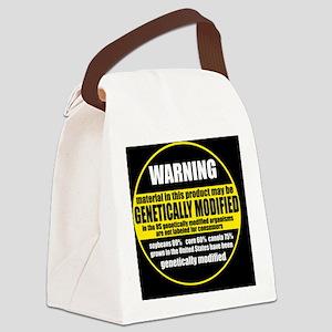 GMOWarningLabel Canvas Lunch Bag