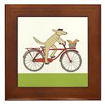 """""""Dog and Squirrel"""" Framed Tile"""