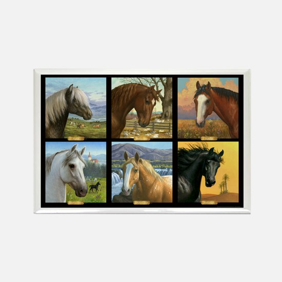 HORSE DIARIES POSTER Rectangle Magnet