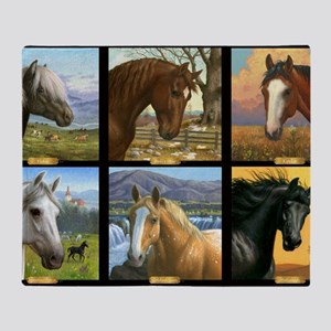 HORSE DIARIES POSTER Throw Blanket