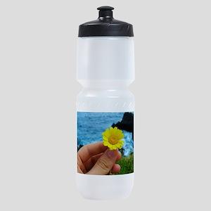Holding a flower Sports Bottle