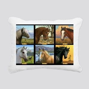 HORSE DIARIES POSTER Rectangular Canvas Pillow