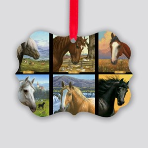HORSE DIARIES POSTER Picture Ornament