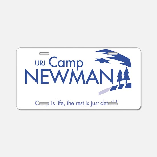 Camp-Newman_with-tagline Aluminum License Plate