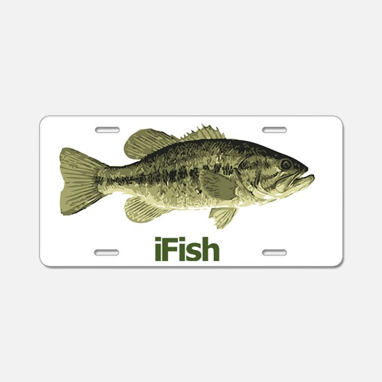 Bass Aluminum License Plate