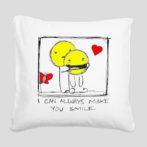 make me smile Square Canvas Pillow