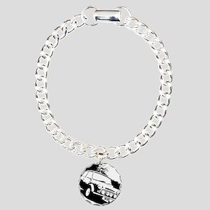 Black and White Mini Charm Bracelet, One Charm