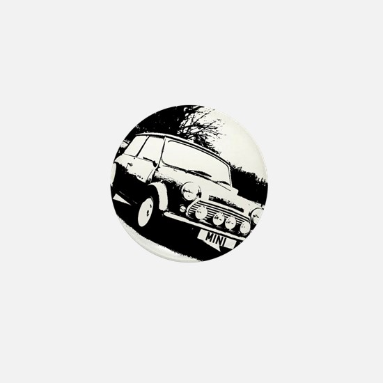 Black and White Mini Mini Button