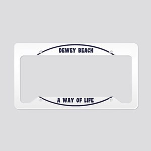 DeweyEuroOvalBlue License Plate Holder