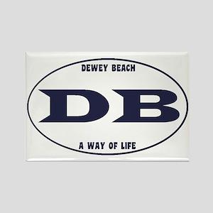 DeweyEuroOvalBlue Rectangle Magnet