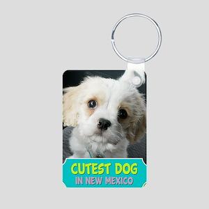 2-cutestdog Aluminum Photo Keychain