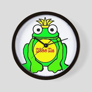 2-frog prince Wall Clock
