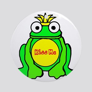 2-frog prince Round Ornament