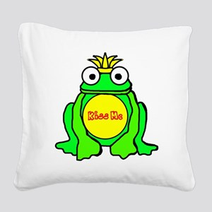 2-frog prince Square Canvas Pillow