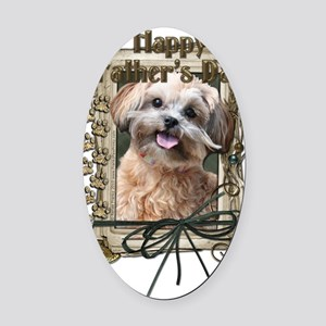 French_Quarters_ShihPoo_Maggie Oval Car Magnet