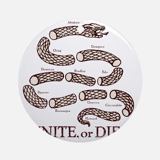 Unite_Or_Die__White_Shirt_Front Round Ornament