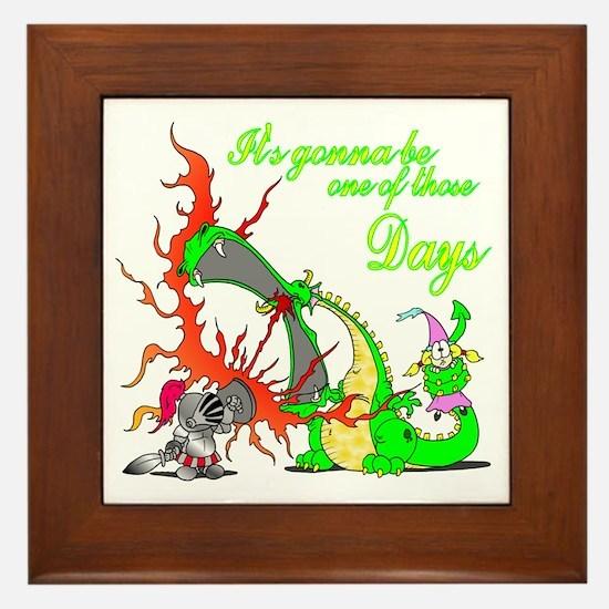 2-dragon Framed Tile