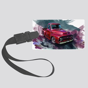 1953fordf100pickup Large Luggage Tag
