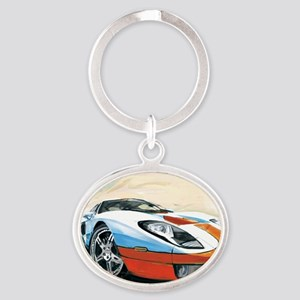 2-2005gtcolor Oval Keychain