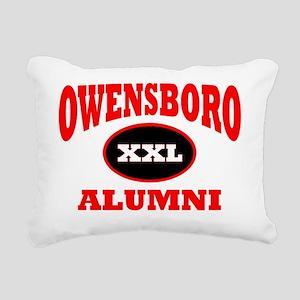 Owensboro XXL Alumni red Rectangular Canvas Pillow