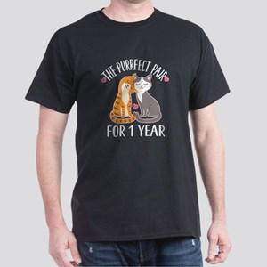 1st Wedding Anniversary Cats T-Shirt