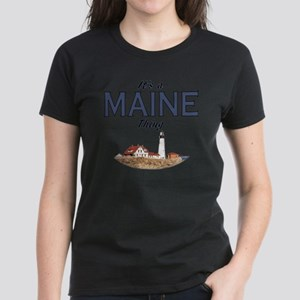 Its a Maine Thing Lighthouse Women's Dark T-Shirt