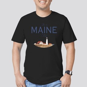 Its a Maine Thing Ligh Men's Fitted T-Shirt (dark)