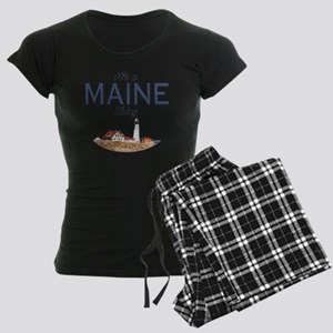 Its a Maine Thing Lighthouse Women's Dark Pajamas