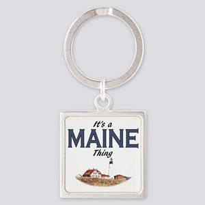 Its a Maine Thing Lighthouse Square Keychain