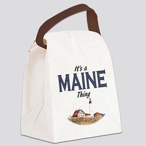 Its a Maine Thing Lighthouse Canvas Lunch Bag