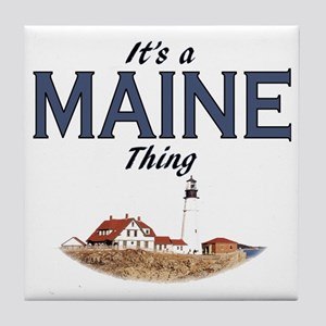 Its a Maine Thing Lighthouse Tile Coaster