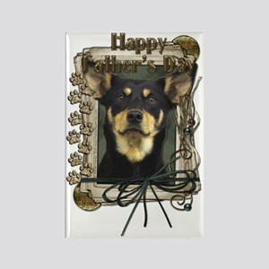 French_Quarters_Australian_Kelpie Rectangle Magnet