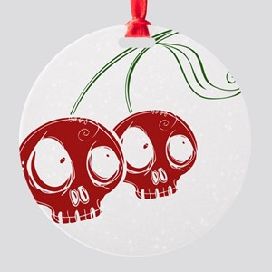 cherryskulls2 Round Ornament