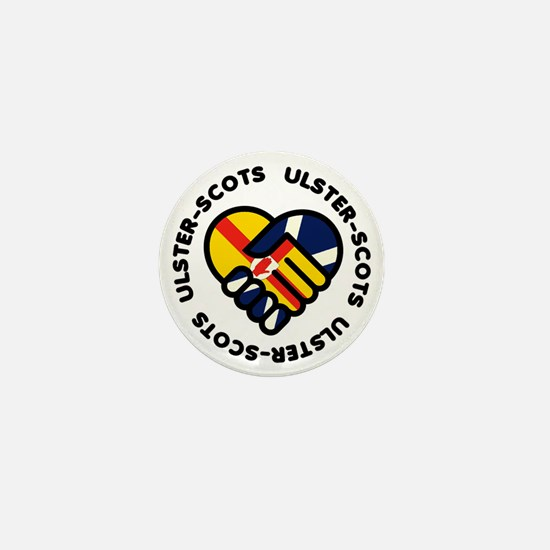 ulster scots hands Mini Button