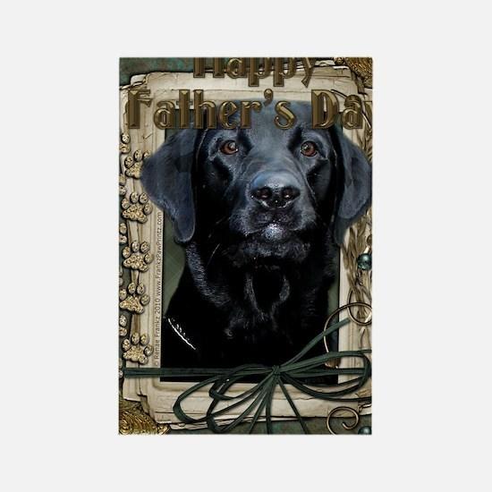 French_Quarters_Black_Labrador Rectangle Magnet