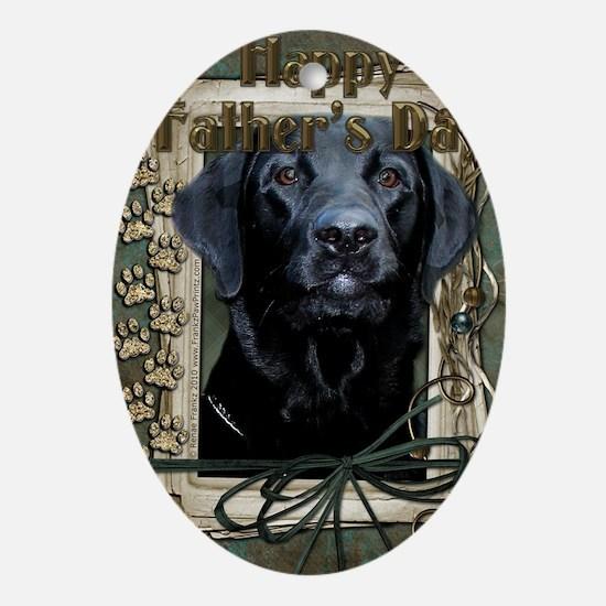 French_Quarters_Black_Labrador Oval Ornament
