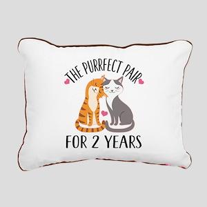2nd Anniversary Couples Gift Rectangular Canvas Pi