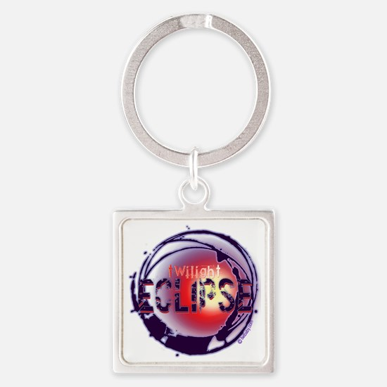 twilight eclipse grunge light back Square Keychain