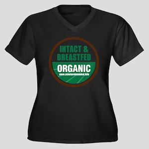 ani-organic Women's Plus Size Dark V-Neck T-Shirt