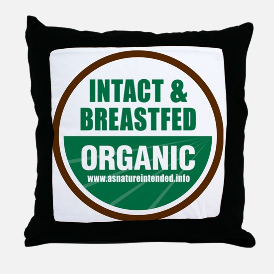 ani-organic Throw Pillow